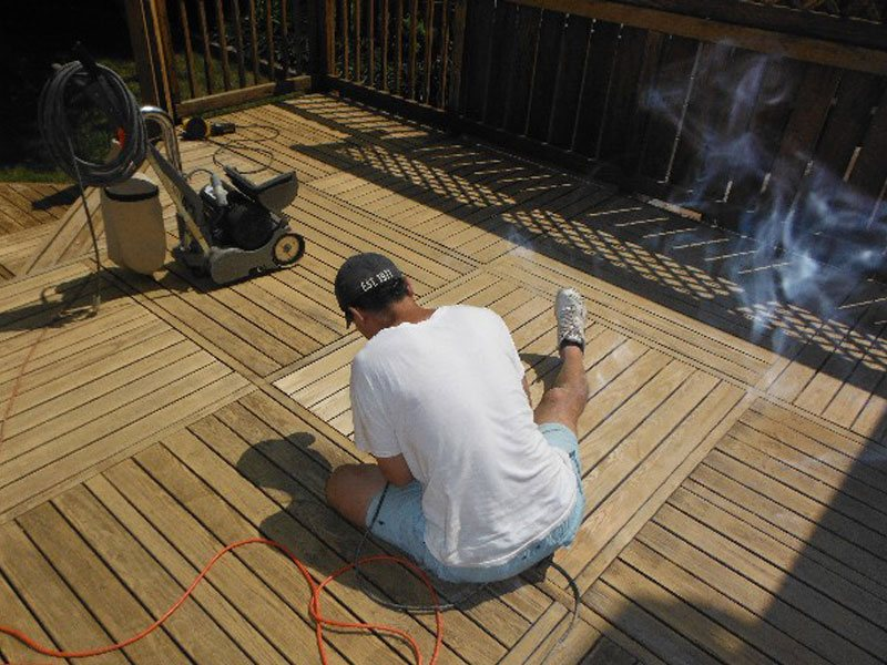 Deck Refinishing Preparation
